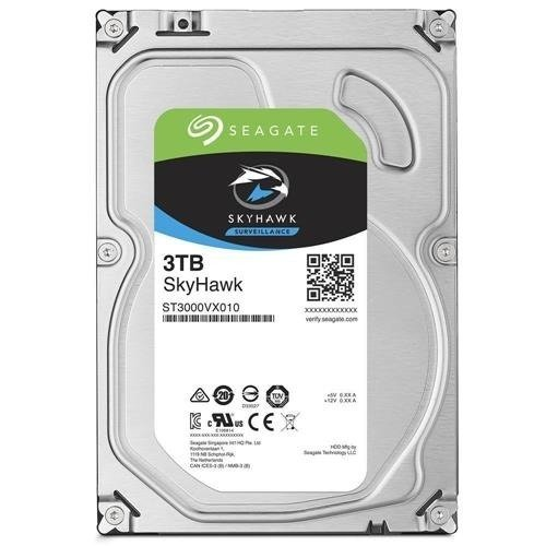 Dysk twardy Seagate SkyHawk 3.5'' HDD 3TB 5900RPM SATA 6Gb/s 64MB | ST3000VX010